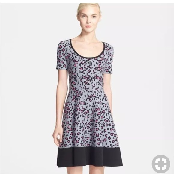 4f7df3b32ff kate spade Dresses   Skirts - Kate Spade Cyber Cheetah Knit Dress-M